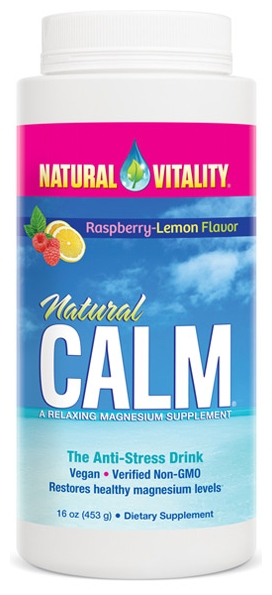 Natural Calm Raspberry-Lemon 16 oz by Natural Vitality