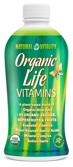 Organic Life Vitamins 30 fl oz (887 ml) by Natural Vitality (EXPIRES 9/17)