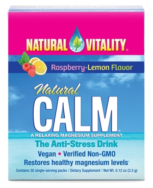 Natural Calm Raspberry-Lemon 30 Single-Serving Packs by Natural Vitality