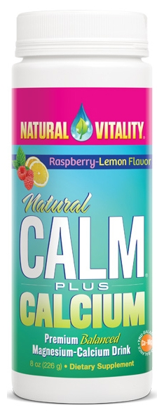 Natural Calm Plus Calcium Raspberry-Lemon 8 oz by Natural Vitality