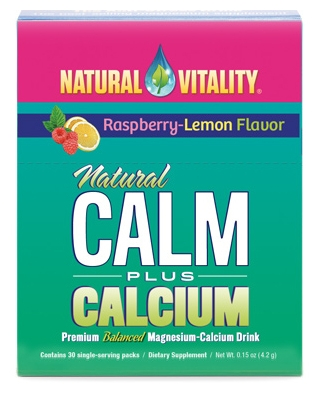 Natural Calm Plus Calcium Raspberry-Lemon 30 Single-Serving Packs by Natural Vitality