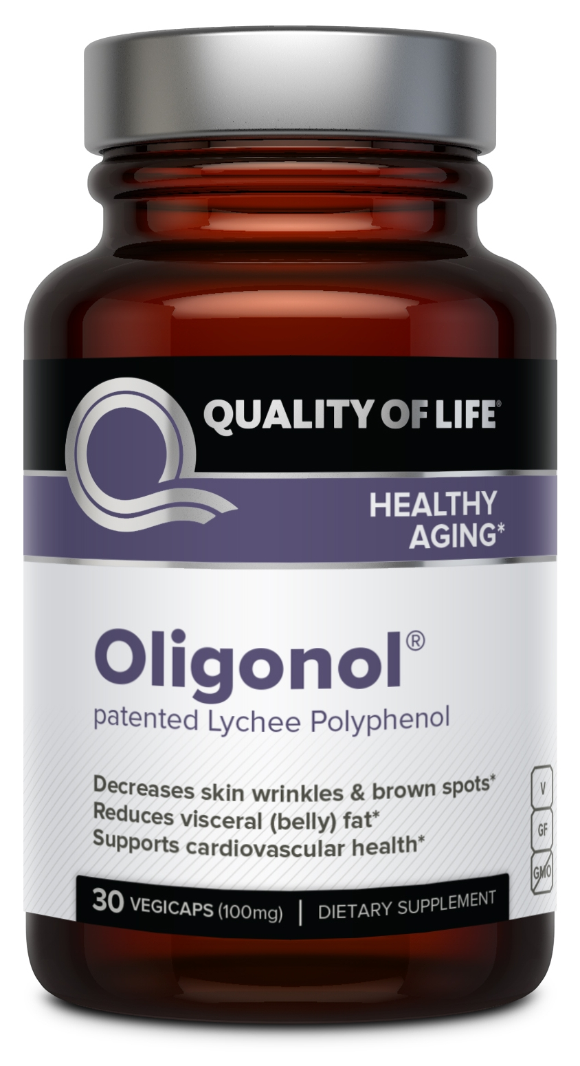 Oligonol 100 mg 30 Vegicaps by Quality of Life Labs