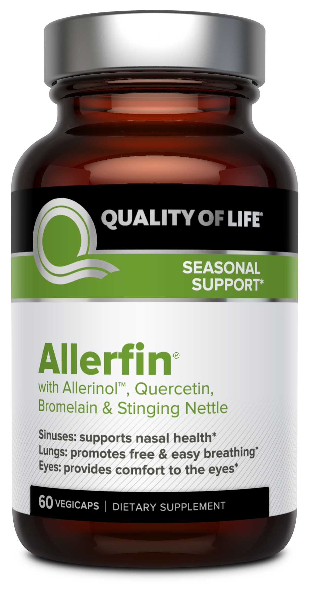 Allerfin 60 Vegicaps by Quality of Life Labs