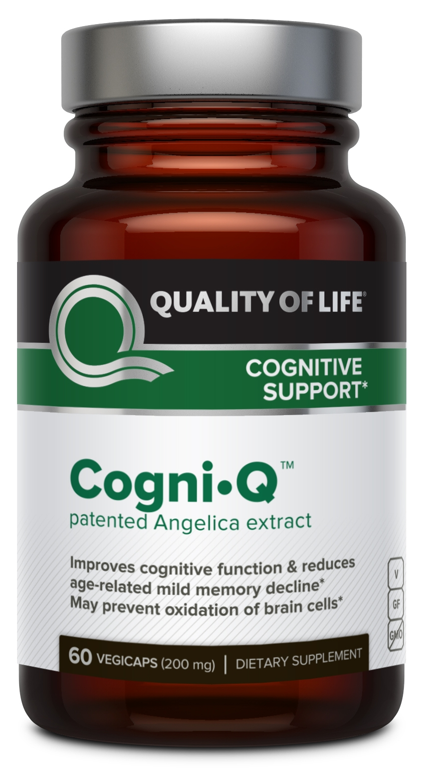 Cogni-Q Patented Angelica Extract 200 mg 60 Vegicaps by Quality of Life Labs
