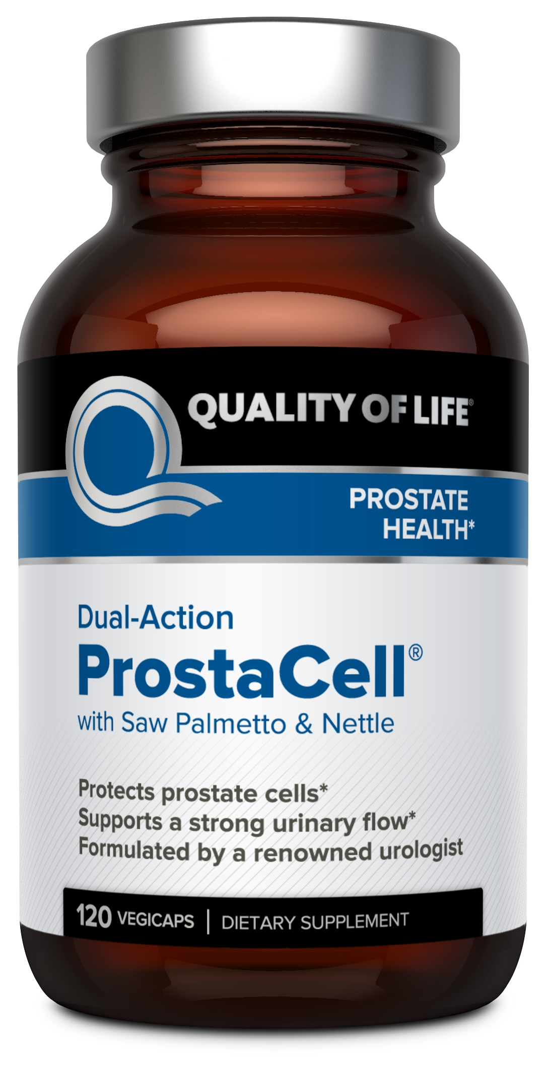 ProstaCell Dual Action 120 Vegicaps by Quality of Life Labs