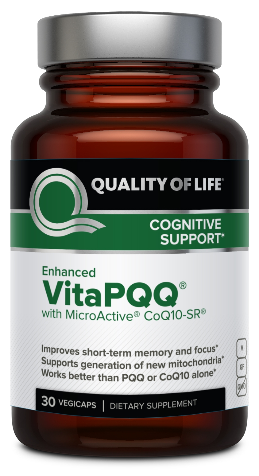 Enhanced VitaPQQ 30 Vegicaps by Quality of Life Labs