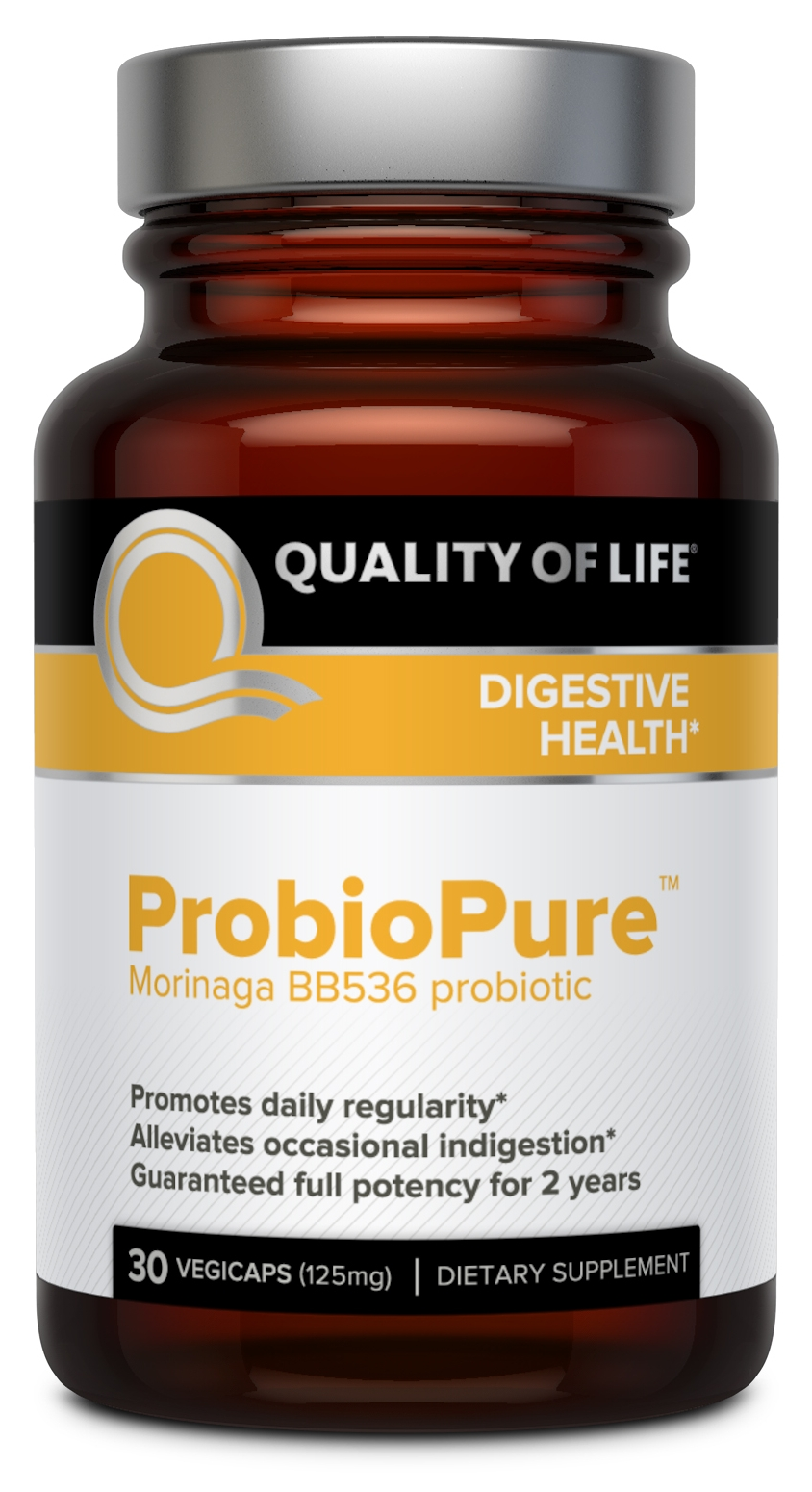 ProbioPure Morinaga BB536 Probiotic 125 mg 30 Vegicaps by Quality of Life Labs