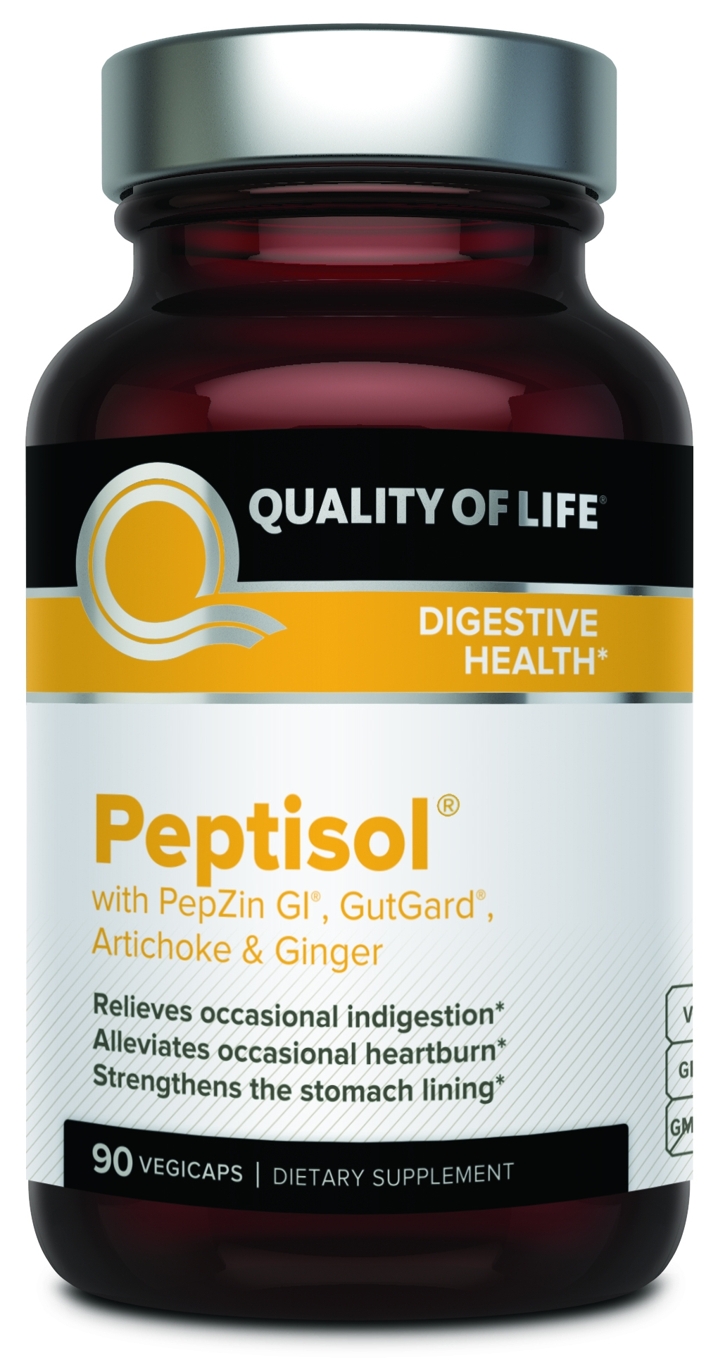Peptisol 90 Vegicaps by Quality of Life Labs