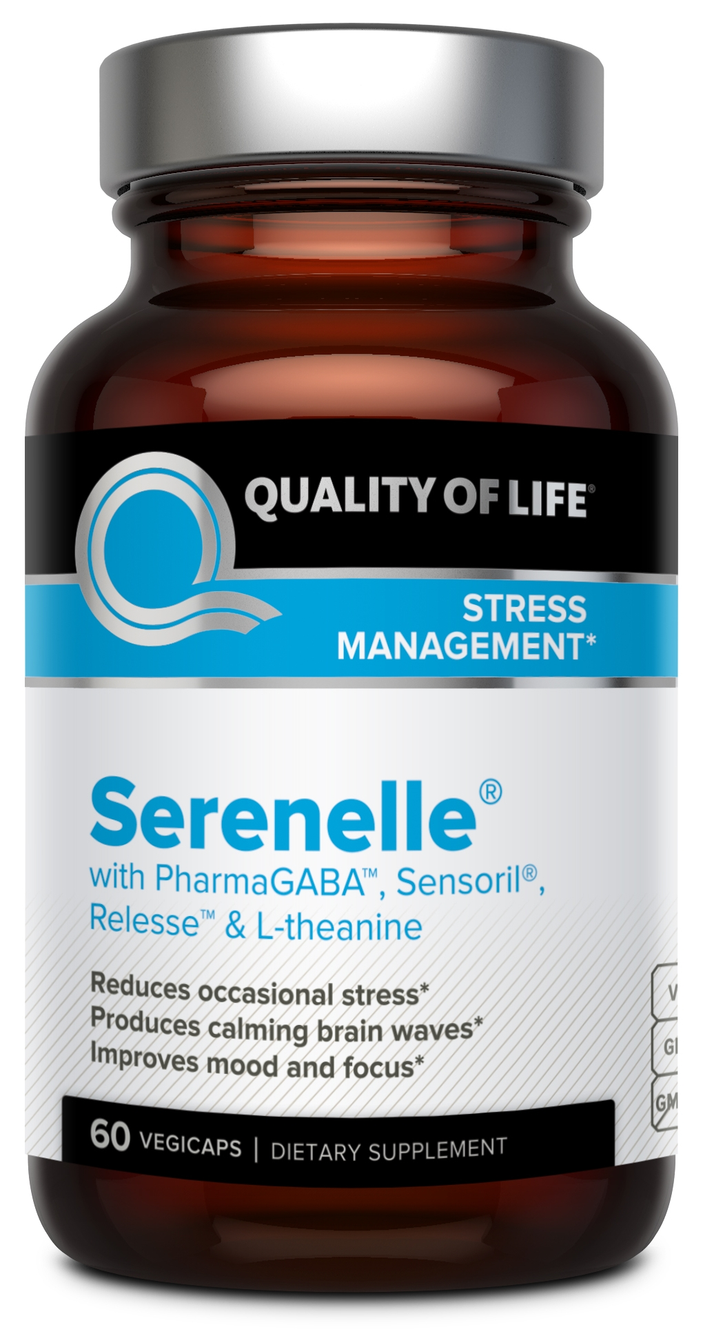 Serenelle 60 Vegicaps by Quality of Life Labs