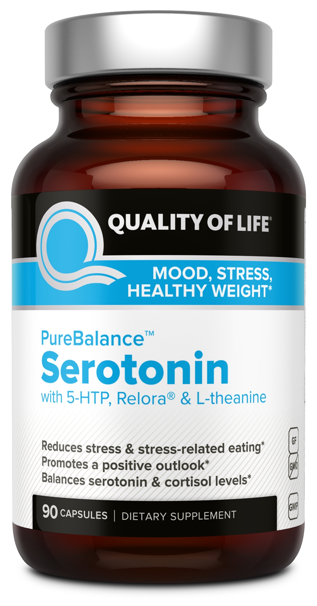PureBalance Serotonin 90 Vegicaps by Quality of Life Labs