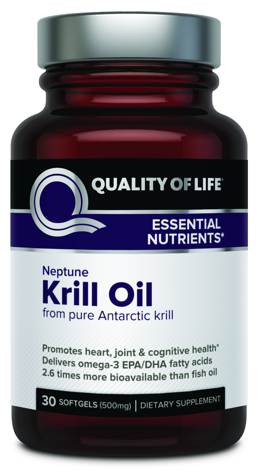 Neptune Krill Oil 500 mg 30 sgels by Quality of Life Labs
