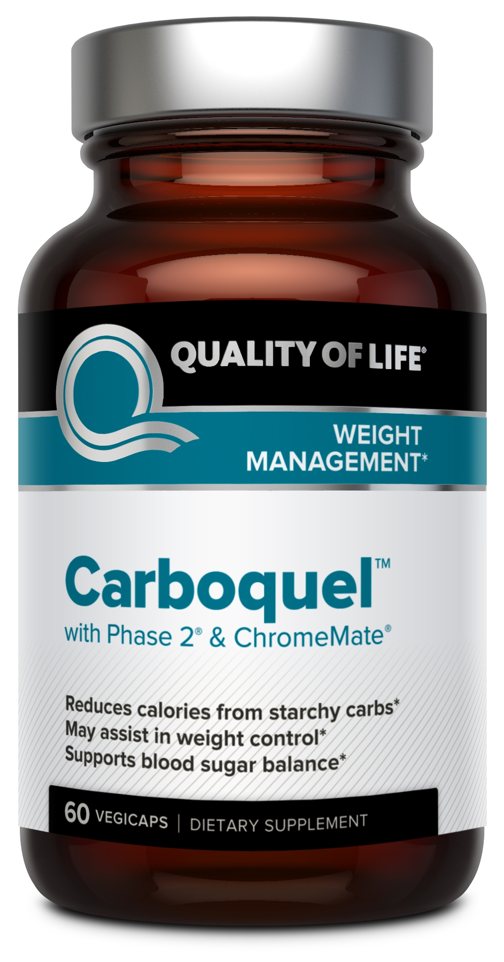 Carboquel 60 Vegicaps by Quality of Life Labs