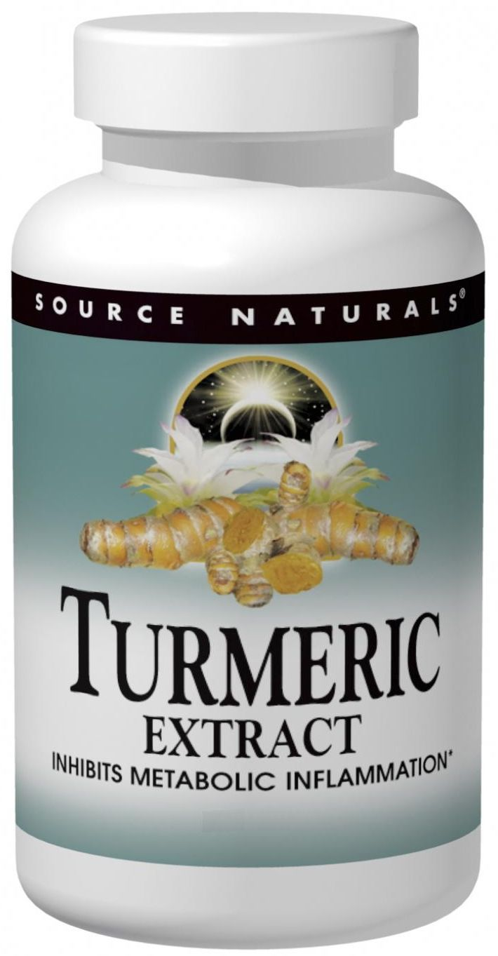 Turmeric Extract 100 tabs by Source Naturals