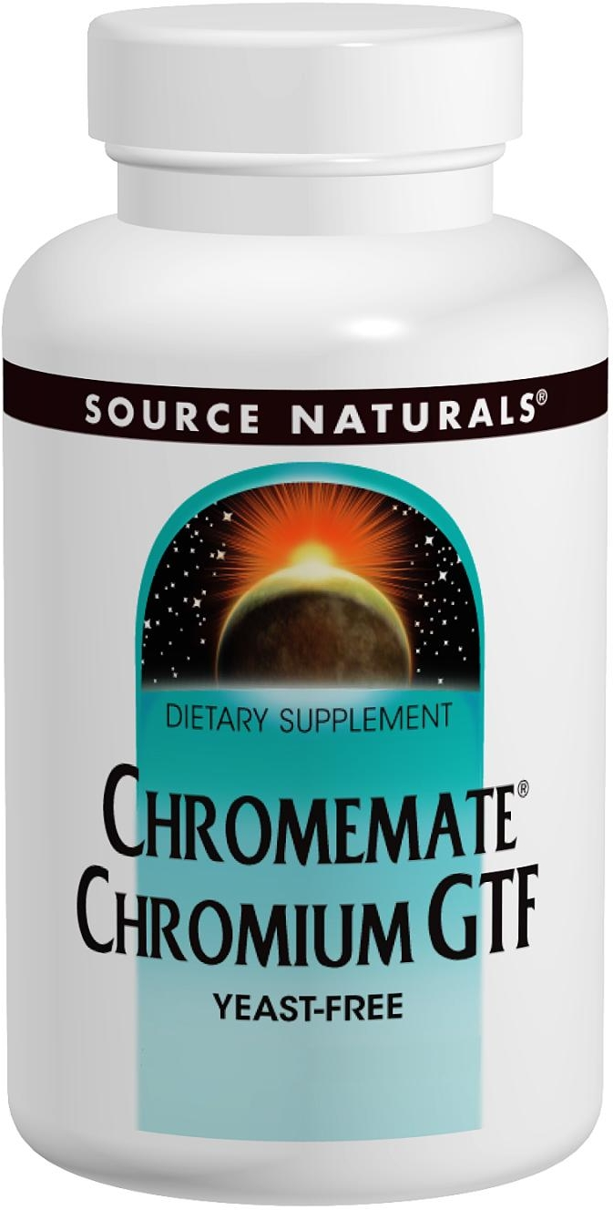 ChromeMate Chromium GTF 200 mcg 240 tabs by Source Naturals