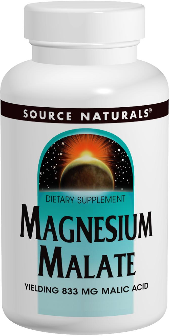 Magnesium Malate 1250 mg 180 tabs by Source Naturals
