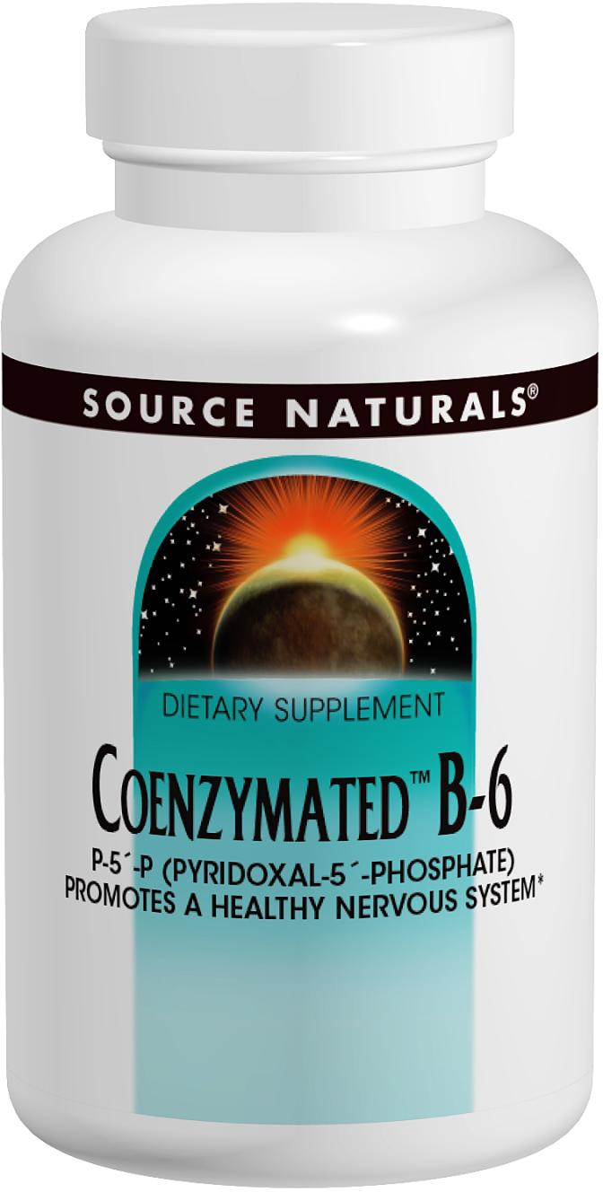 Coenzymated B-6 25 mg Sublingual 120 tabs by Source Naturals