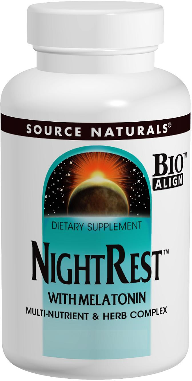 NightRest with Melatonin 100 tabs by Source Naturals