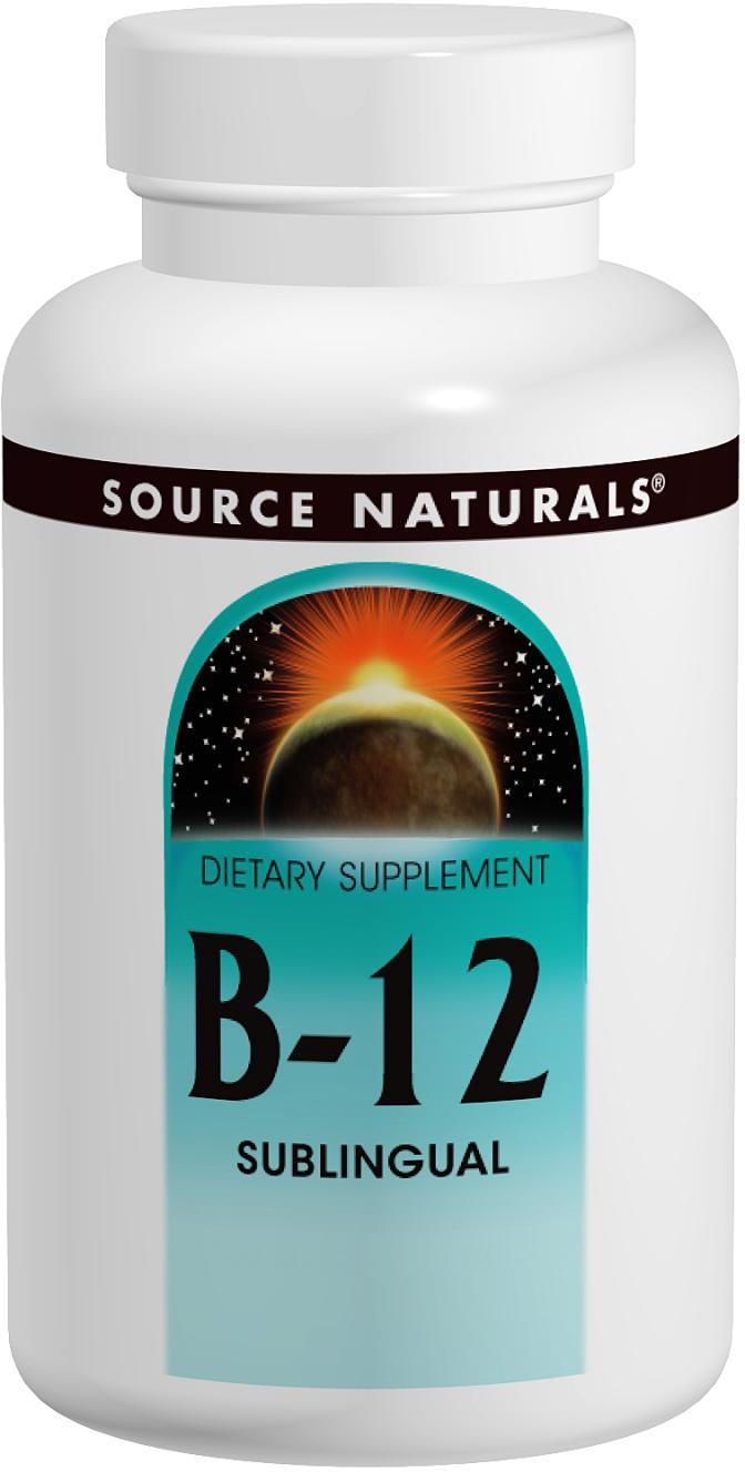 B-12 Sublingual 2000 mcg 100 tabs by Source Naturals