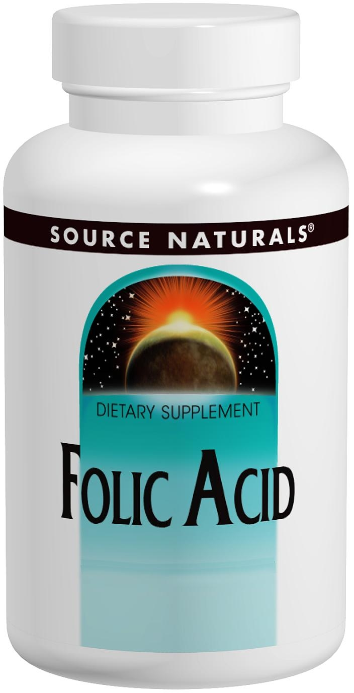 Folic Acid 800 mcg 500 tabs by Source Naturals