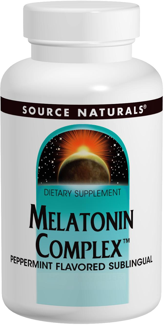 Melatonin Complex Sublingual Peppermint 100 tabs by Source Naturals