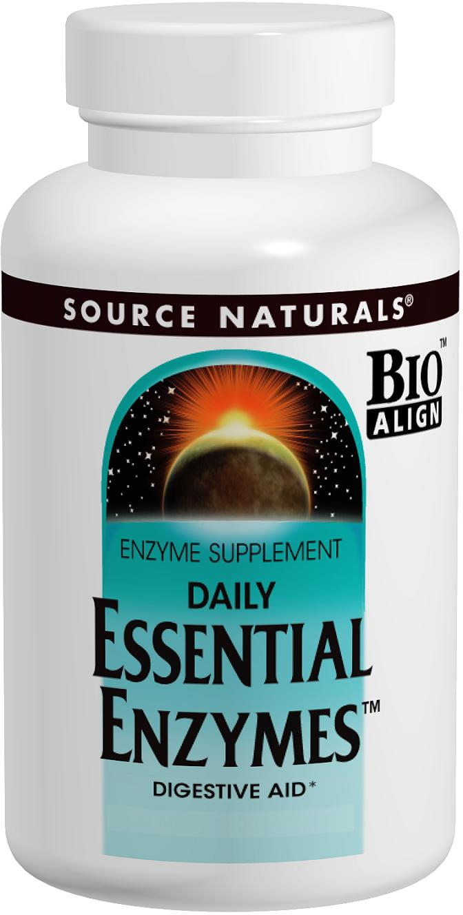 Daily Essential Enzymes 240 caps by Source Naturals