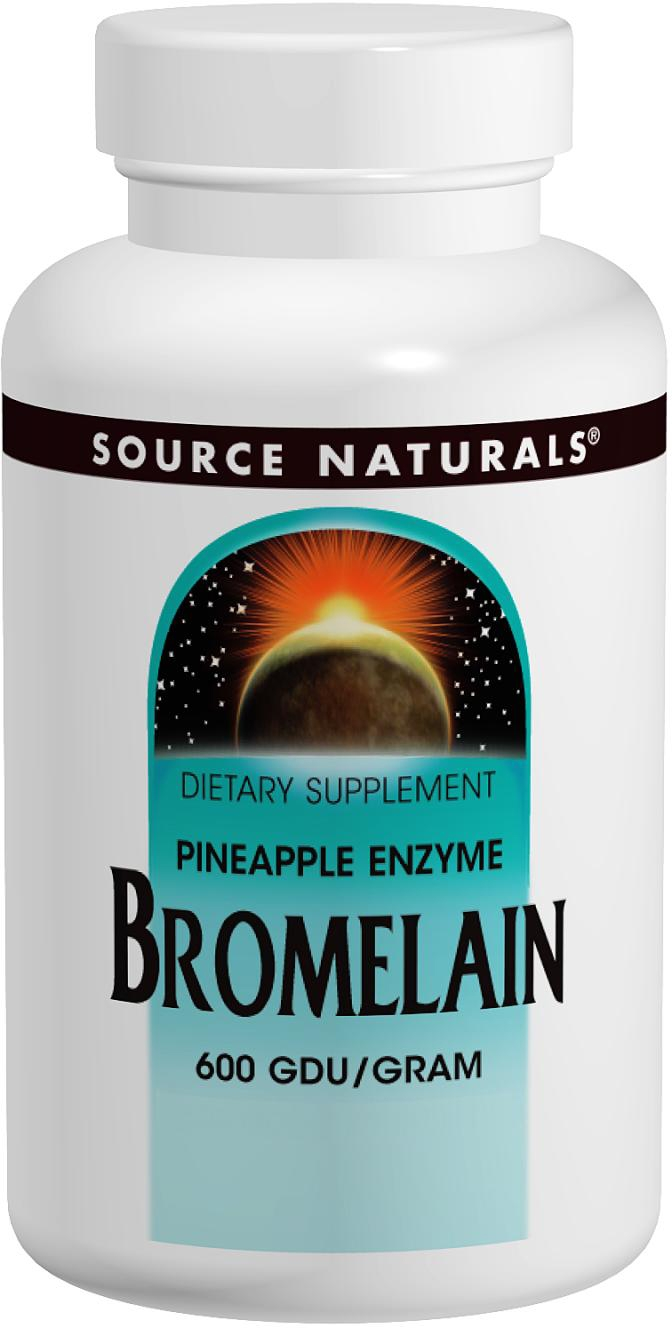 Bromelain 600 GDU/g 500 mg 120 tabs by Source Naturals