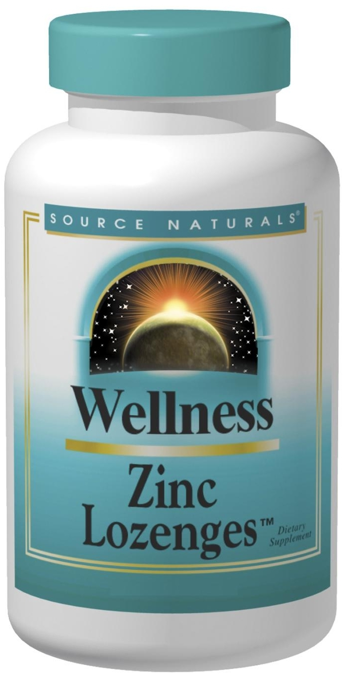 Wellness Zinc Lozenges Peach-Raspberry 23 mg 120 loz by Source Naturals