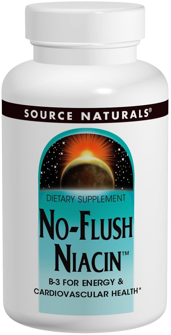No-Flush Niacin 500 mg 60 tabs by Source Naturals