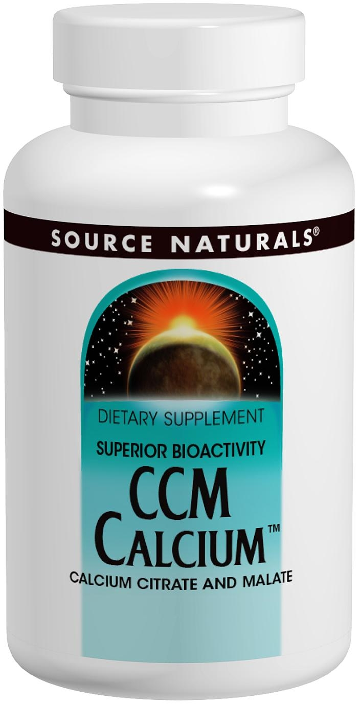 CCM Calcium 300 mg 120 tabs by Source Naturals