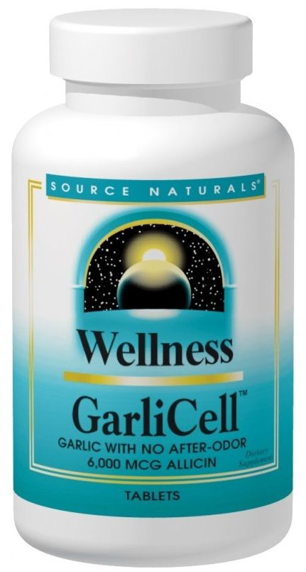 Wellness GarliCell 180 tabs by Source Naturals