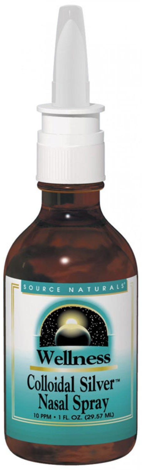 Wellness Colloidal Silver Nasal Spray 10 ppm 2 fl oz by Source Naturals