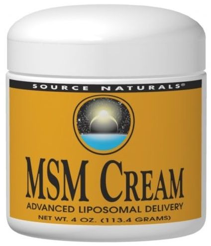 MSM Cream 4 oz by Source Naturals