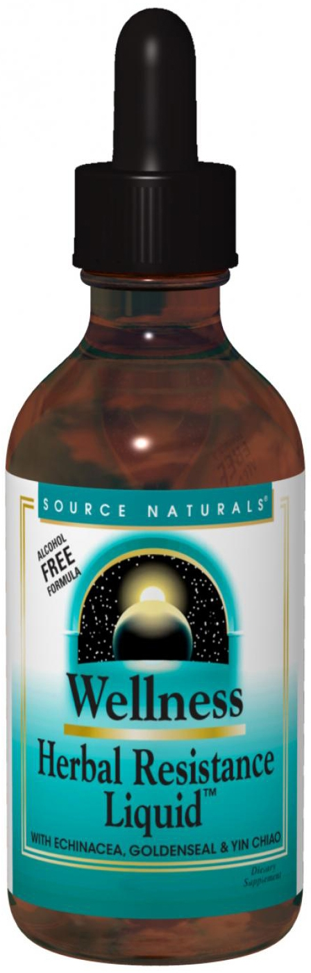 Wellness Herbal Resistance Liquid Alcohol-Free 4 fl oz by Source Naturals