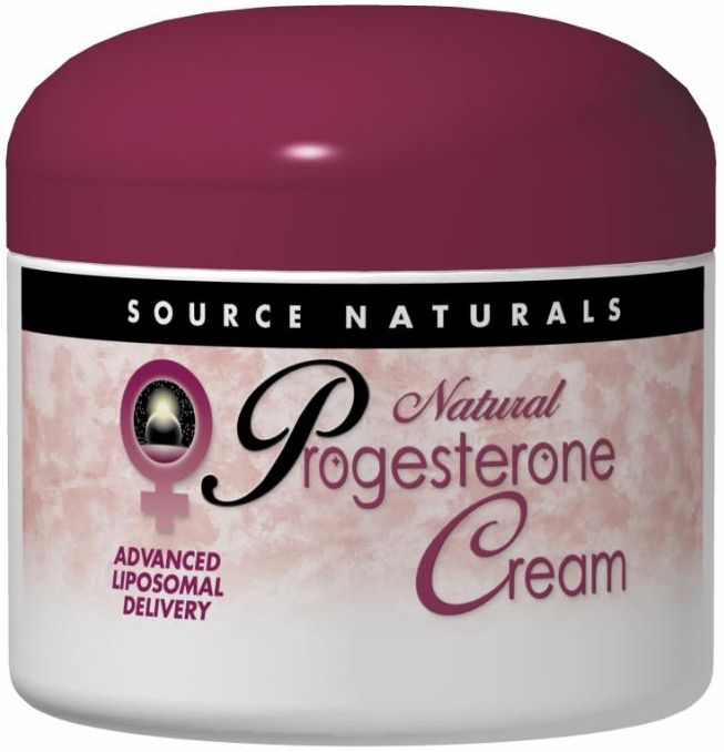 Progesterone Cream Jar 4 oz by Source Naturals