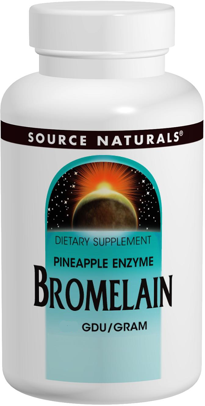 Bromelain 2000 GDU/g 500 mg 60 tabs by Source Naturals