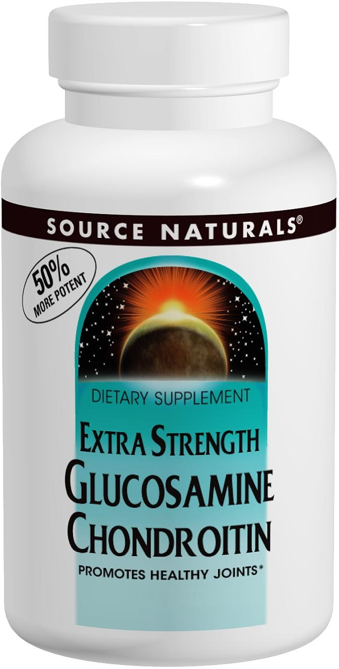 Glucosamine Chondroitin Extra Strength 120 tabs by Source Naturals