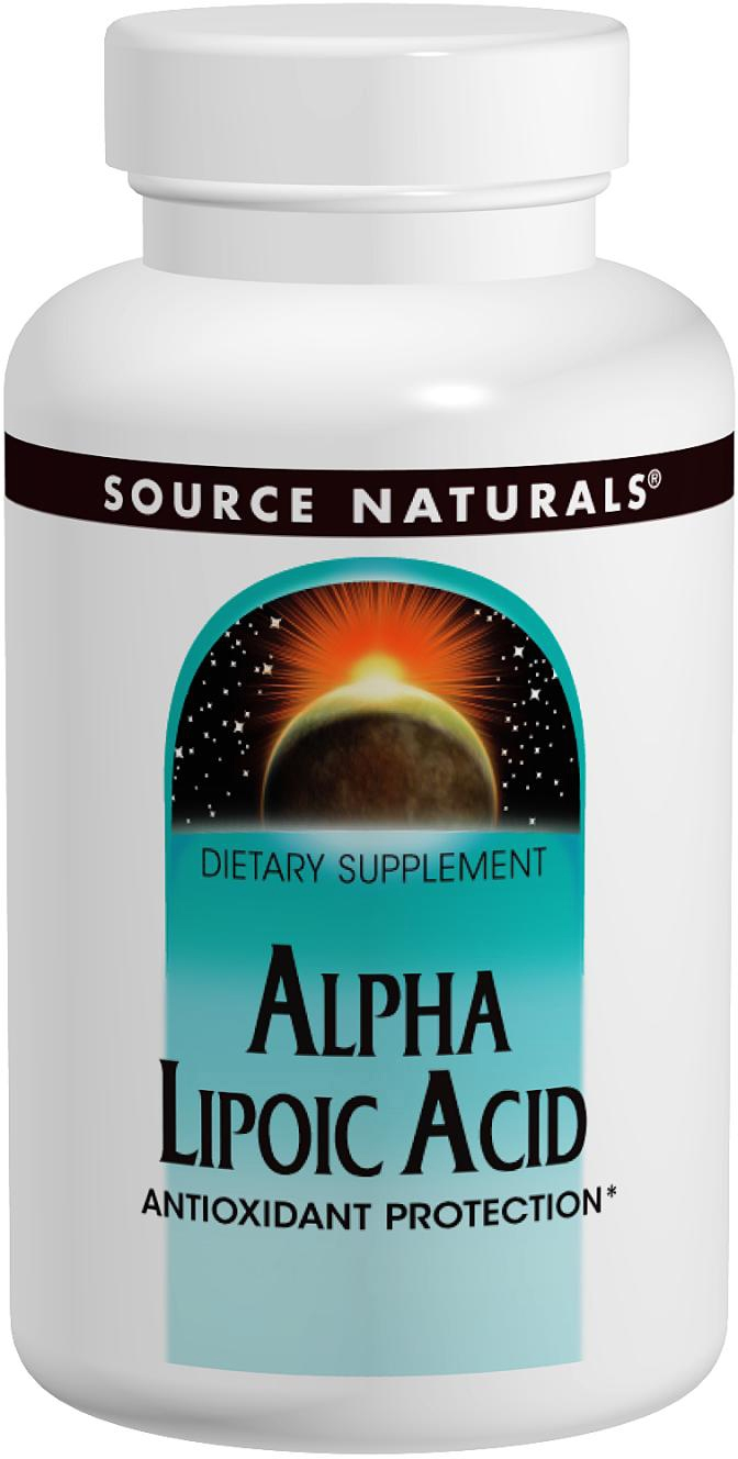 Alpha Lipoic Acid 300 mg Timed Release 120 tabs by Source Naturals