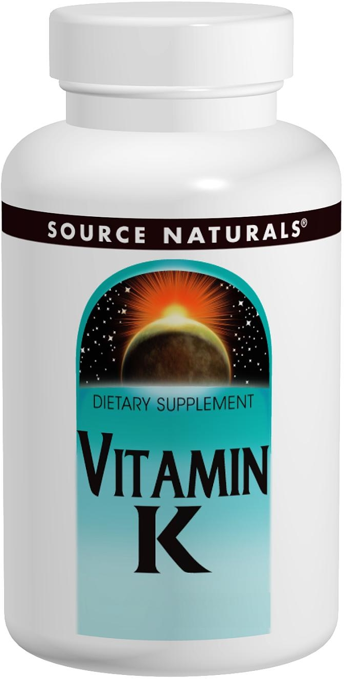 Vitamin K 500 mcg 200 tabs by Source Naturals