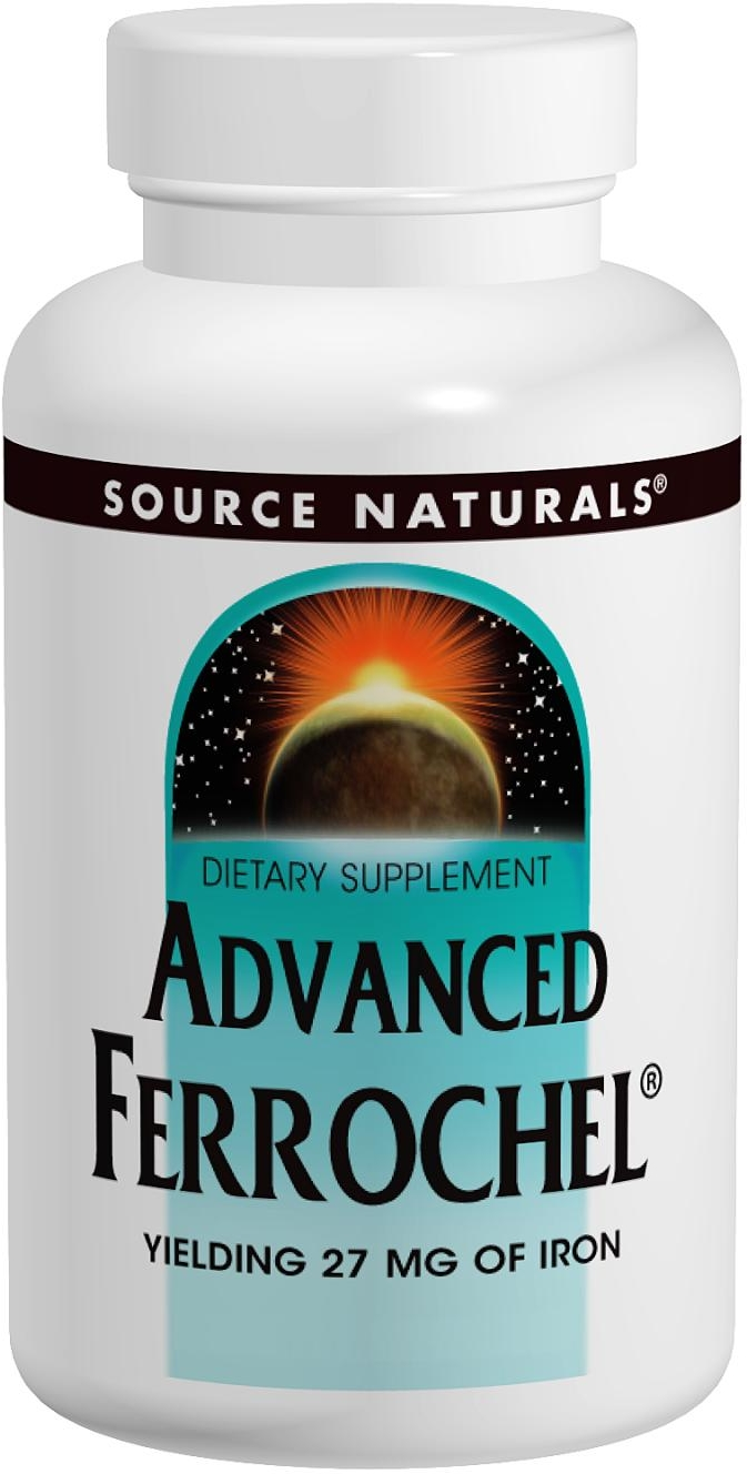Advanced Ferrochel 180 tabs by Source Naturals