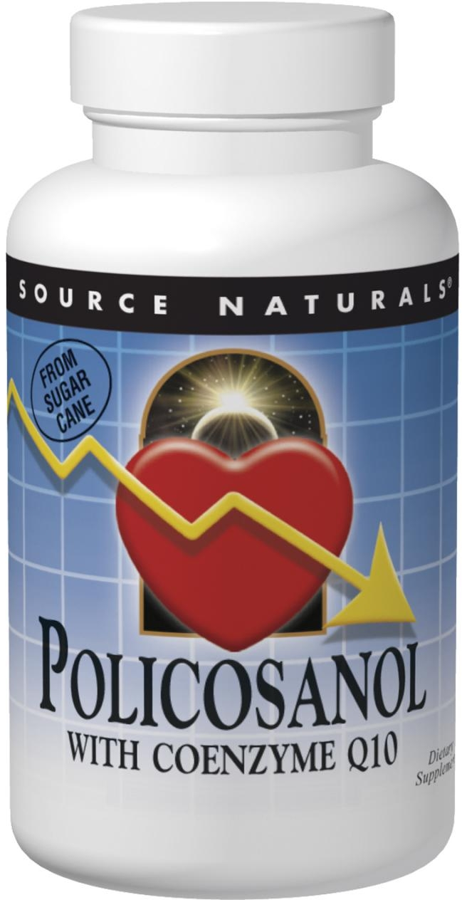 Policosanol with Coenzyme Q10 10 mg 120 tabs by Source Naturals