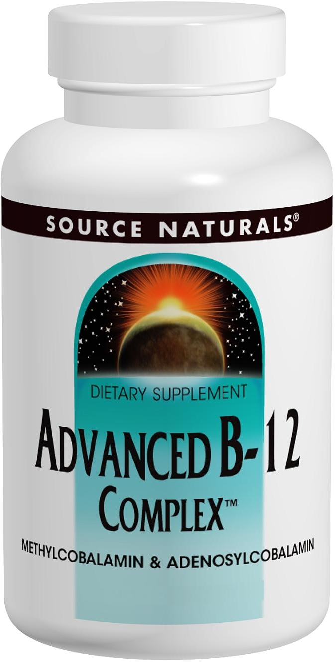 Advanced B-12 Complex 5 mg 60 tabs by Source Naturals