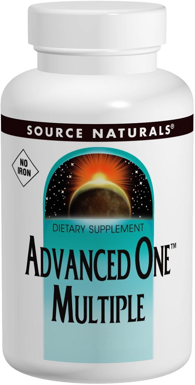 Advanced One Multiple No Iron 60 tabs by Source Naturals