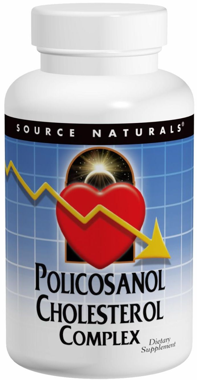Policosanol Cholesterol Complex 90 tabs by Source Naturals