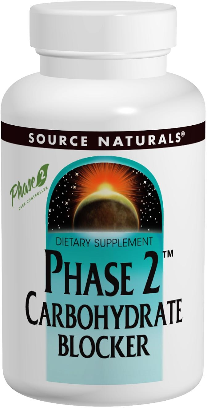 Phase 2 Carbohydrate Blocker 500 mg 60 tabs by Source Naturals