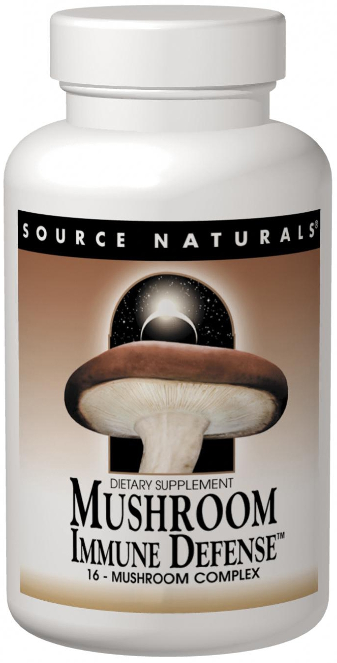 Mushroom Immune Defense 60 tabs by Source Naturals