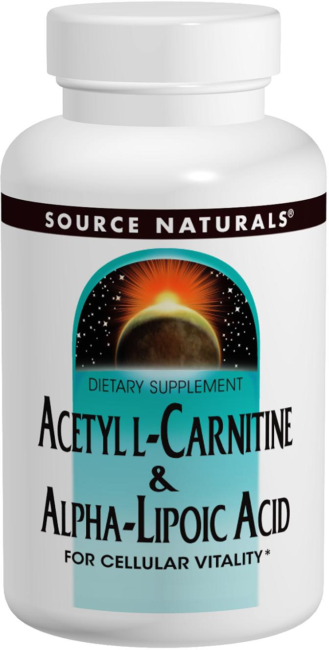 Acetyl L-Carnitine & Alpha Lipoic Acid 60 tabs by Source Naturals