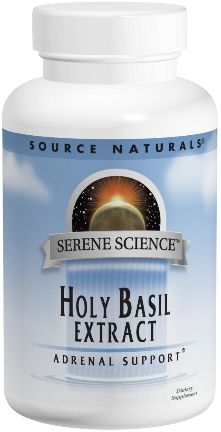 Holy Basil Extract 120 caps by Source Naturals