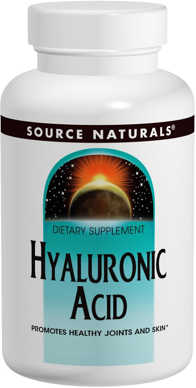 Hyaluronic Acid 100 mg 60 tabs by Source Naturals