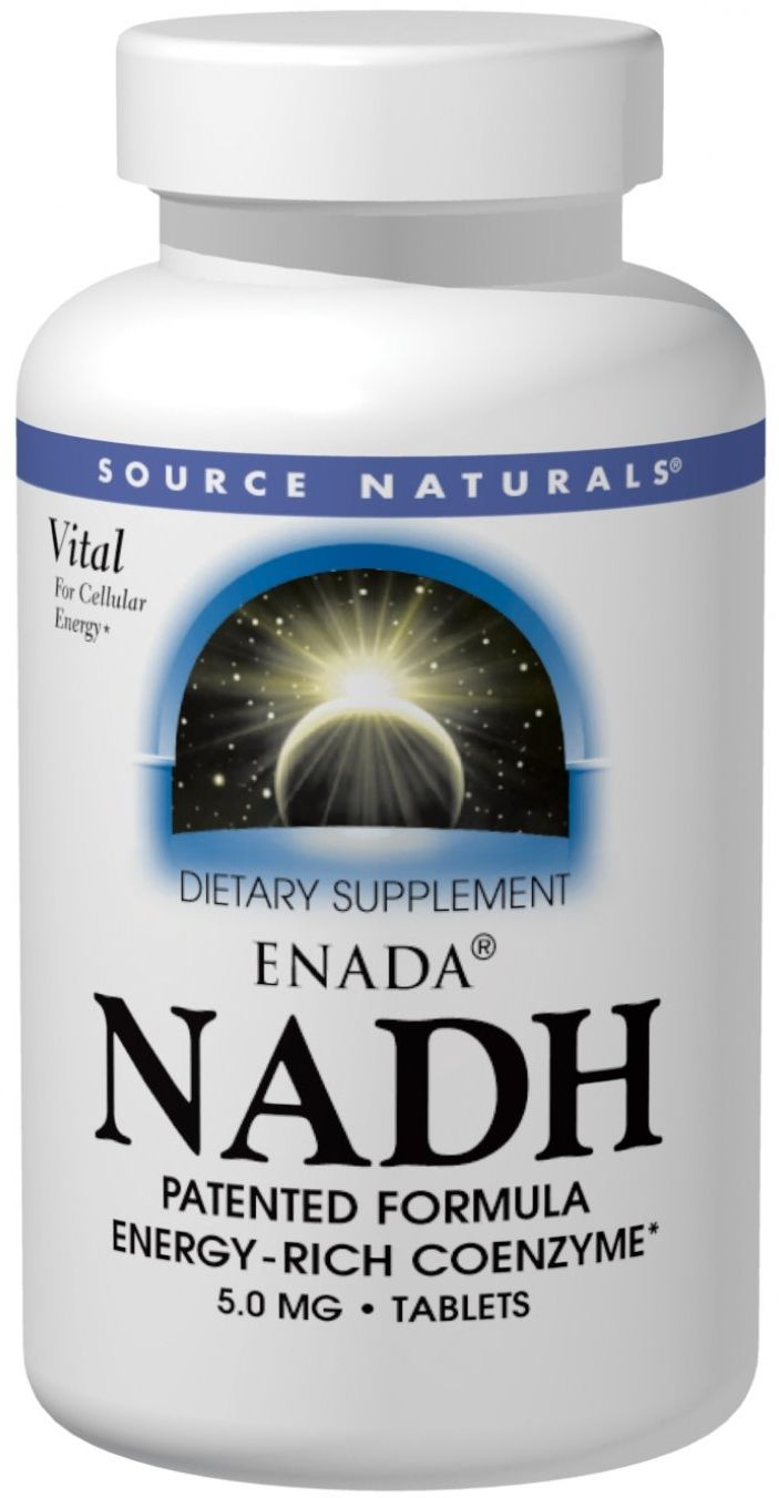 ENADA NADH 5 mg 60 tabs by Source Naturals