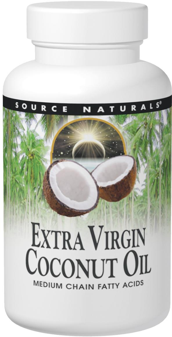 Extra Virgin Coconut Oil 16 oz by Source Naturals